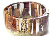 Resin jewelry, Harz, Natur, Schmuck (Epoxidharz / epoxy resin)