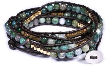 leather bracelets / leather beaded bracelets