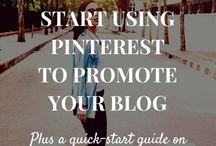 Pinterest for bloggers / Pinterest tips for bloggers; using Pinterest to get traffic for your blog; blogging tips; Pinterest strategies.