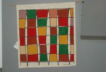Painéis / Panels / Pintura em tecido Fabric Painting Panel