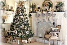 Office Holiday Tree Inspiration / Country chic christmas theme