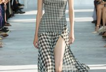 Checks: Trend Forecast S/S 15 / This board is a compilation of images of a possible trend that has transpired across various fashion shows during NYFW, PFW, WLIFW and LFW S/S 15.