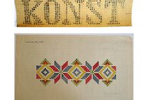 Pattern - Tesselate & Embroidery / Embroidery, tessellating shapes, geometric shapes, needlework, grids