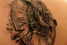 clock tattoo 3D 4D