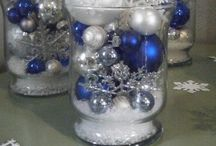 "Wintery holidays. / Winter. ""Frozen"". Frosty. Decorations. / by Mary Ritchey Martin"