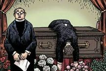 funeral funnies / think outside the box / by ann phelan