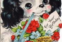 Puppy Dog Vintage Cards