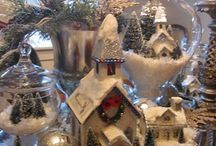 Christmas Small Snow Villages Lorraine Loves