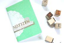 Notizbücher // notebooks // calepins / Einzigartige, handgebundene Notizbücher aus der chartopola Werkstatt