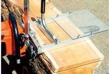Cutting logs