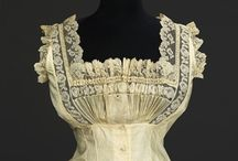 Victorian Corset Covers / Corset covers from the 1830s to 1900 - these undergarments are not meant to be seen