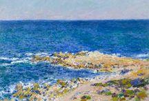 Antibes / Tableaux de la ville d'Antibes par Signac, Meissonier, Monet, Boudin et Renoir. Vue, paysage et personnages. Tableau à reproduire sur mesure.