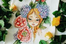 Embroidery by Marie / Cross stitch works. Handmade with love ❤️
