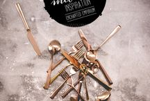 Gold, Bronze + Copper Cutlery