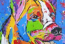 hond gekleurd