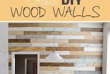 Stěna ze dreva