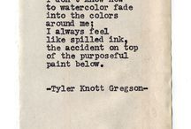 Spilled ink.
