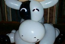 Balloon Menu Black, Red and White