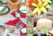 Rustic Outdoor Party Ideas / Having an adult party outside. Here are some great examples of rustic elements that you can add to your yard for cheap! / by Rose Kren