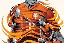 Oranje op het WK creaties via twitter. / Verschillende creaties die gemaakt zijn voor de wedstrijden van Oranje op het WK 2014.