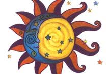 art - moon star sun