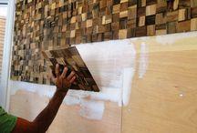 wood wall paneling....