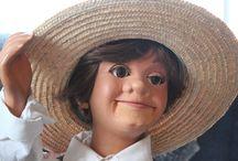Ventriloquism / Photos of Wanda Brunstetter's ventriloquist figures.
