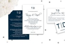 "Elegant Wedding / We call this invitation set ""By the Sea"" but don't limit it to nautical themed weddings! If you love Navy and White and have an elegant simplicity then this set is for you. And look at the wedding ideas that we think go perfectly with one of our favourite Wedding Invitation Sets."