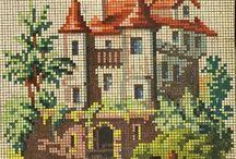 Вышивка: Ретро, старинная вышивка (Сross stitch: antique embroidery, retro)