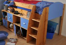 Midsleeper Cabin Beds / Mid sleeper cabin beds for children, including cabin beds with built-in desks and storage, or fun play tents and slides for young kids.