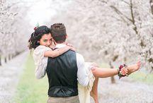 Bohemian almond orchard wedding inspiration