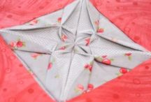 origami and mesh work quilt