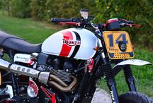Triumph Scrambler SM by Free Spirits / Triumph Scrambler Supermotard born from a Bonneville tuned by Free Spirits with our patented conical waterproof air filters P08WP