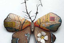 mariposas madera