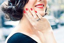 wed: bride hairdo