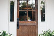 front door plants