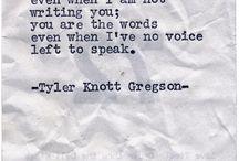 Tyler Knott Gregson / by Jo Mills