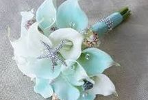 WEDDING CELEBRATION. A TIFFINY BLUE BEACH WEDDING......