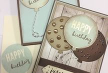 Balloon cards Stampin up