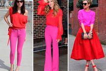 Розовый и красный
