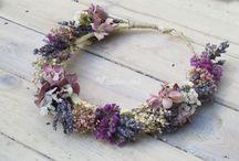 Tocados flores naturales para novias
