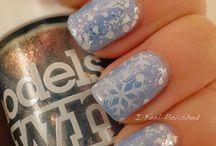 Nail art , winter