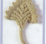 knitting flowers & leaves