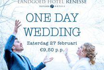 Fletcher Trouwen Events / Fletcher Hotels doet graag net dat beetje meer voor haar bruidsparen. Wat dacht je van gezellige bruidsbeurzen, proeverijen, de unieke One Day Wedding, tal van unieke acties en nog veel meer!
