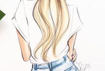рисунки для  девочек