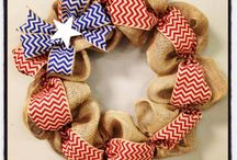 Burlap and Wreaths