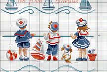 X-stitch / summer & sea