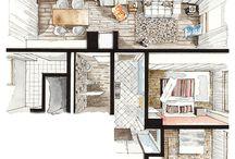 interiors sketches