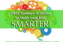Affordable Kid Activities / Ideas to entertain kids without breaking the break. From outdoor play to indoor games, kids need to stimulate their brains and get off technology. Limit screen time and increase creative times!