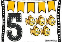 5 sayısını öğreniyorum